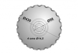 Notched disk Vaderstad Carrier