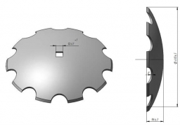 Notched disk harrow Veles Agro