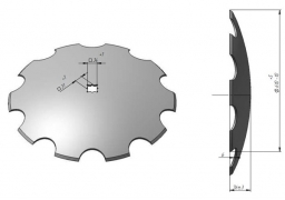 Notched disk harrow John Deere Veles Agro