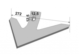 Chisel plow sweep Farmet 272 mm boron steel Veles Agro
