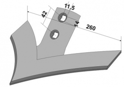 Chisel plow sweep Wil Rich 260 mm boron steel Veles Agro