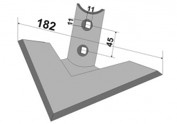 Chisel plow sweep Kockerling Allrounder-10 182 Veles Agro