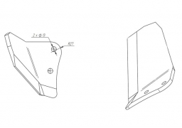 Wing subsoiler vaderstad top down right