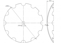 Disk carved Quivogne