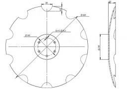 Notched disk Horsch Tiger