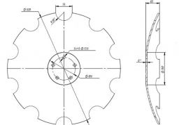 Notched disk HORSCH JOKER