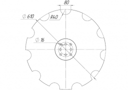 Notched disk AGRISEM