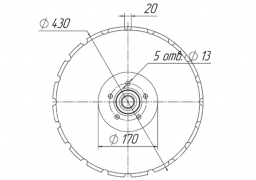 Notched disk Vaderstad 20 teeth