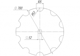 Notched disk Quivogne