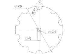 Notched disk Wishek krasnyanka