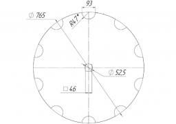 Notched disk Wishek original
