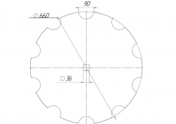 Notched disk AKPIL