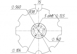 Notched disk SALFORD